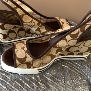 Coach size 7.5 wedge sandals